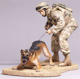 McFarlane's Military Air Force K9 Handler Caucasian action figure