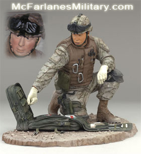 McFarlane Military Figures - Series 4 Navy Field Medic- Navy Toy