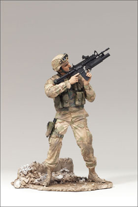 McFarlane's Military Redeployed Series 2 Army Infantry - Military Action Figure
