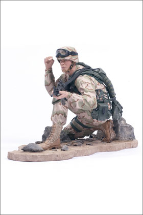 McFarlane's Military Redeployed Army Ranger toy soldier
