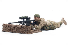 McFarlane's Military Series 1 Marine Corps Recon Sniper caucasian action figure toy